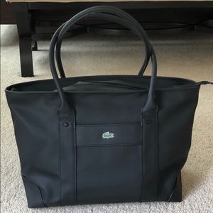 Lacoste Large Shopping Tote in black